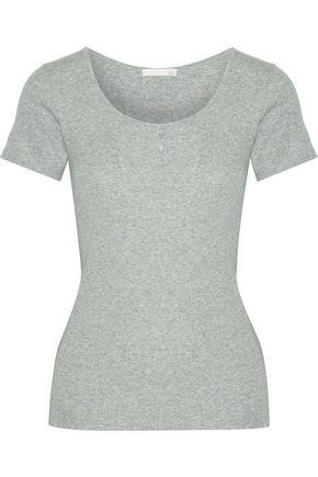 SKIN Ribbed Pima cotton pajama top