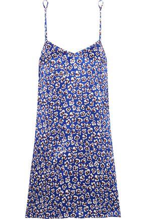 OLIVIA VON HALLE Mila printed silk-satin chemise