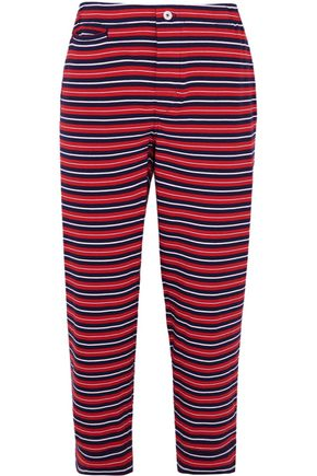 SLEEPY JONES Stevie striped cotton pajama pants