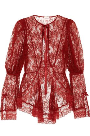 AGENT PROVOCATEUR Marcia Leavers lace jacket