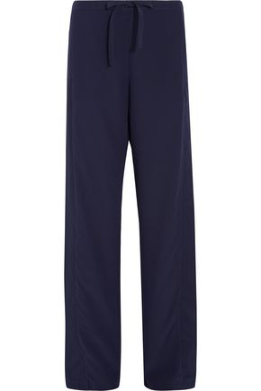 LA PERLA Moonlight tulle-trimmed silk crepe de chine pajama pants