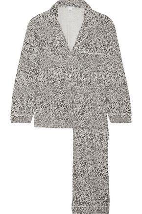 EBERJEY Leopard-print jersey pajamas