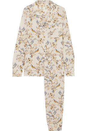 STELLA McCARTNEY Floral-print stretch-silk crepe de chine pajama set