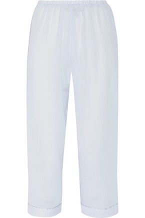 SKIN Cropped cotton-gauze pajama pants