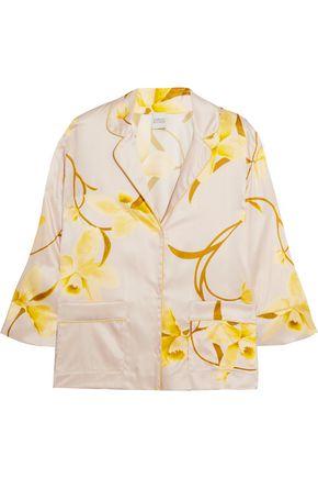 CARINE GILSON Floral-print silk-satin pajama top