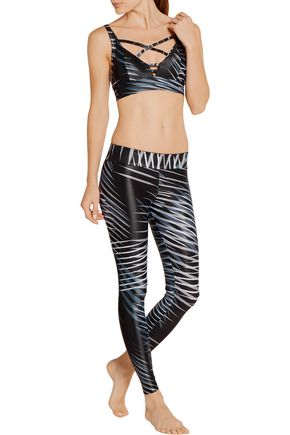 BODYISM I Am Adventurous printed stretch-jersey sports bra