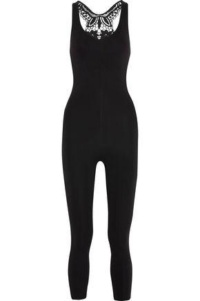 SÀPOPA Macramé lace-paneled neoprene jumpsuit