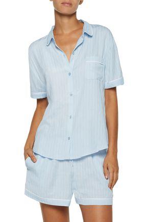 DKNY Striped jersey pajama set
