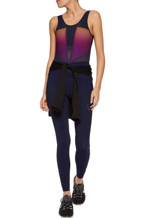 LUCAS HUGH Aurora mesh-paneled stretch bodysuit