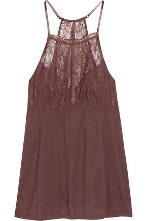 EBERJEY Saskia lace-trimmed stretch-jersey camisole