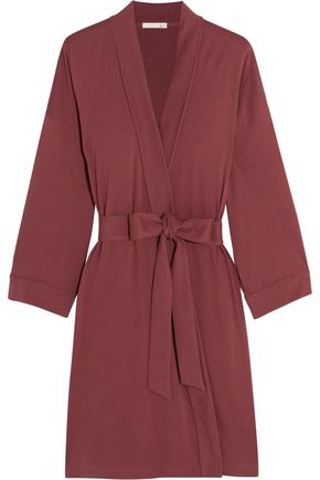 SKIN Pima cotton-jersey robe