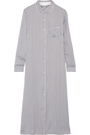 DKNY Striped satin nightdress