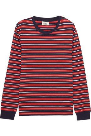 SLEEPY JONES Stevie striped cotton pajama top