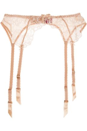 L'AGENT by AGENT PROVOCATEUR Angelica lace and stretch-tulle suspender belt