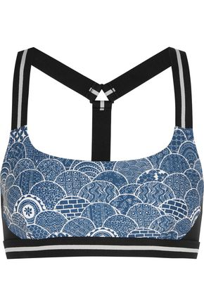 THE UPSIDE Shimoda printed stretch-jersey sports bra