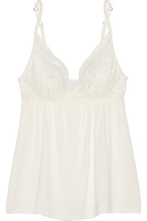 EBERJEY Noor lace-trimmed stretch-modal jersey camisole