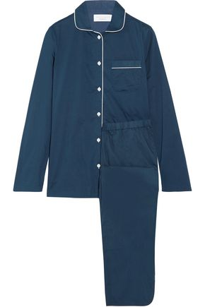 THREE J NYC Macgill cotton-poplin pajama set