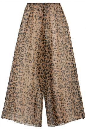 ROSAMOSARIO Bossie Bye leopard-print silk-organza pajama pants