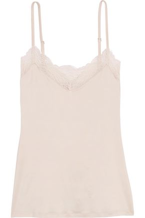 HANRO Greta lace-trimmed stretch-satin camisole
