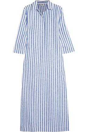 SLEEPY JONES Celia striped linen kaftan