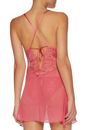 clearance prices authentic quality release date Valerie silk-chiffon and lace chemise | HEIDI KLUM INTIMATES ...