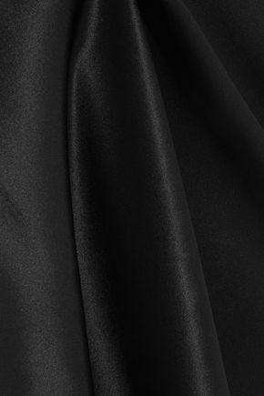 CALVIN KLEIN UNDERWEAR Lace-paneled silk-satin chemise