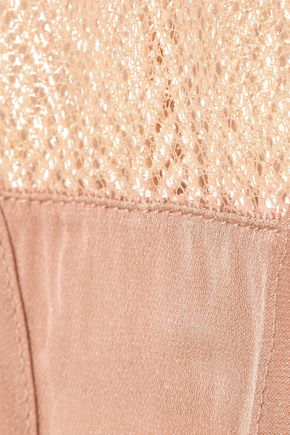 KIKI DE MONTPARNASSE Esprit mid-rise tulle, stretch-lace and satin briefs