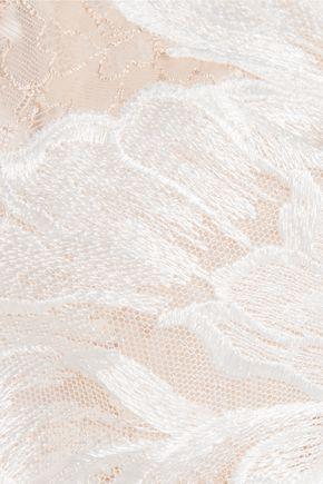 LA PERLA Talisman embroidered Chantilly lace chemise