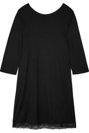 HANRO Eleonora lace-paneled modal and silk-blend jersey nightdress