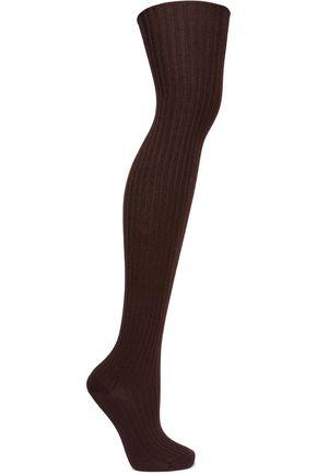 BASERANGE Ribbed silk-blend socks