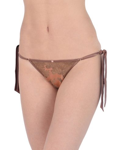 Фото 2 - Трусы-стринги коричневого цвета