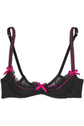L'AGENT by AGENT PROVOCATEUR Isi ruffled stretch-tulle push-up bra