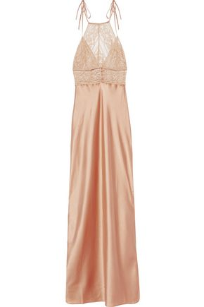 STELLA McCARTNEY Lace-trimmed silk-blend satin nightdress