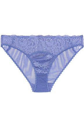 STELLA McCARTNEY Lace and stretch-mesh low-rise briefs