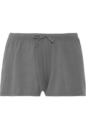 SKIN Pima cotton pajama shorts