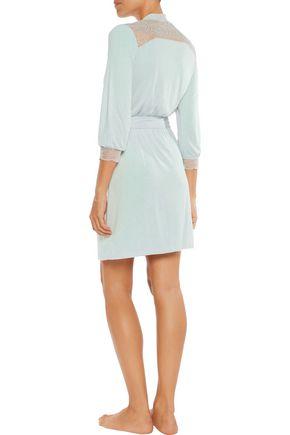 EBERJEY Aubrey lace-trimmed jersey robe