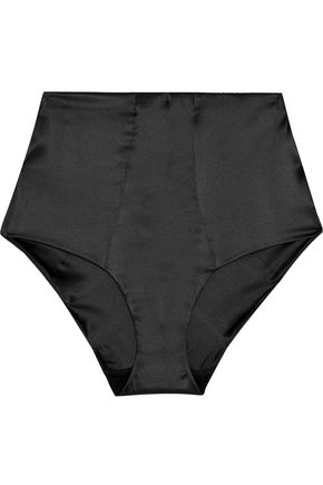 LA PERLA High-rise silk-blend briefs