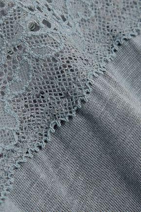 EBERJEY Michaela lace-trimmed jersey camisole