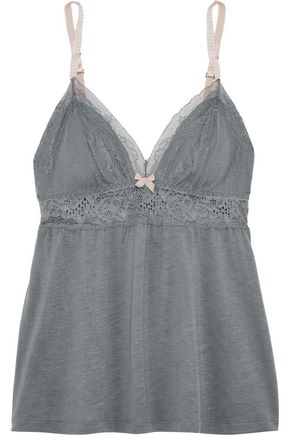 EBERJEY Michaela lace-trimmed jersey camisole