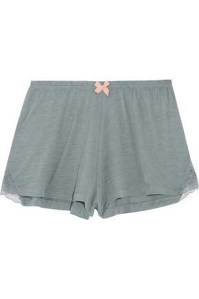 EBERJEY Michaela lace-trimmed jersey pajama shorts