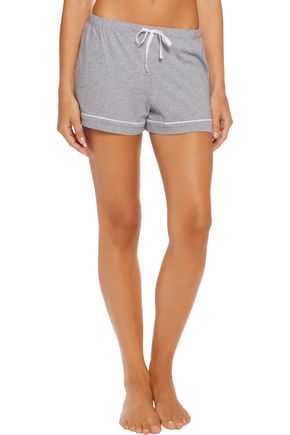 DKNY Marled cotton-blend jersey pajama set