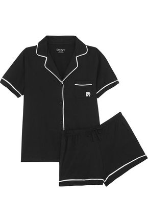 DKNY Signature cotton-blend jersey pajama set