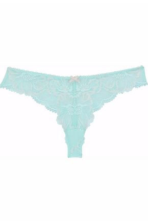 HEIDI KLUM INTIMATES Low-rise scalloped lace thong