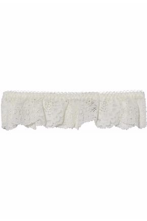 STELLA McCARTNEY Ruffled lace garter