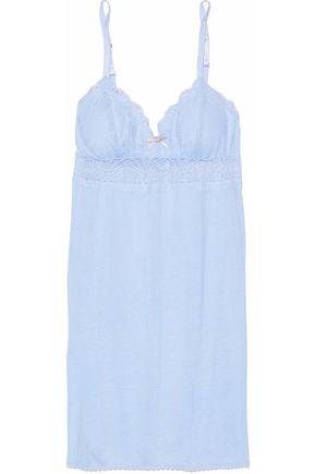 EBERJEY Lace-paneled jersey chemise