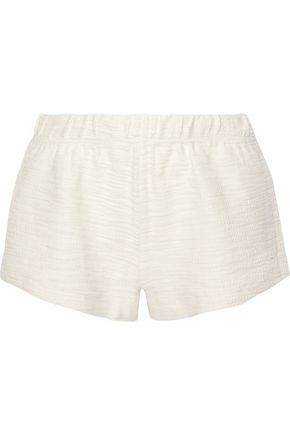 EBERJEY Textured-cotton pajama shorts