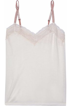 EBERJEY Corded lace-trimmed stretch-jersey camisole