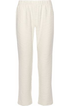EBERJEY Textured-cotton pajama pants