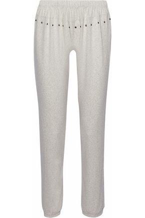 EBERJEY Embellished eyelet jersey pajama pants