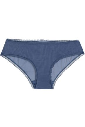 BODAS Low-rise lattice-trimmed mesh briefs